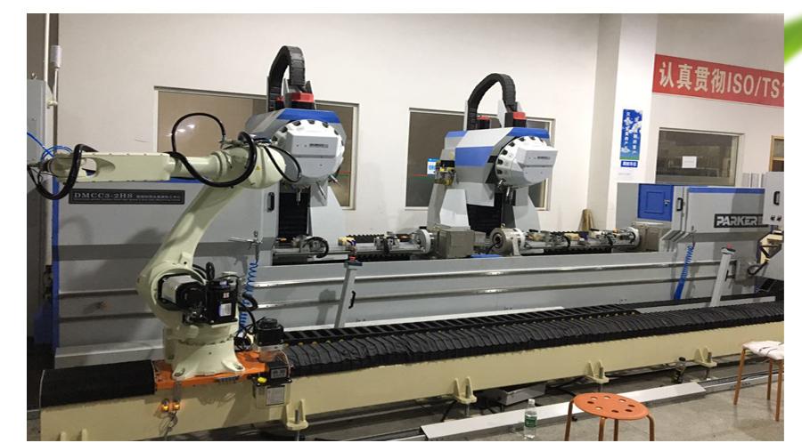 双头加工中心带机器人